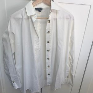 Never been worn White TopShop button down